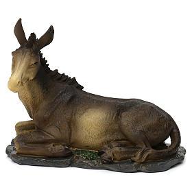 Nativity scene figurines, donkey and ox in resin for 42 cm Nativity scene s3