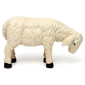 3 Sheep Set with ram, in colored resin for 25-30 cm nativity s3