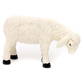 3 Pecore con ariete resina colorata per presepe 35-40 cm s3