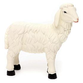 3 Pecore con ariete resina colorata per presepe 35-40 cm s4