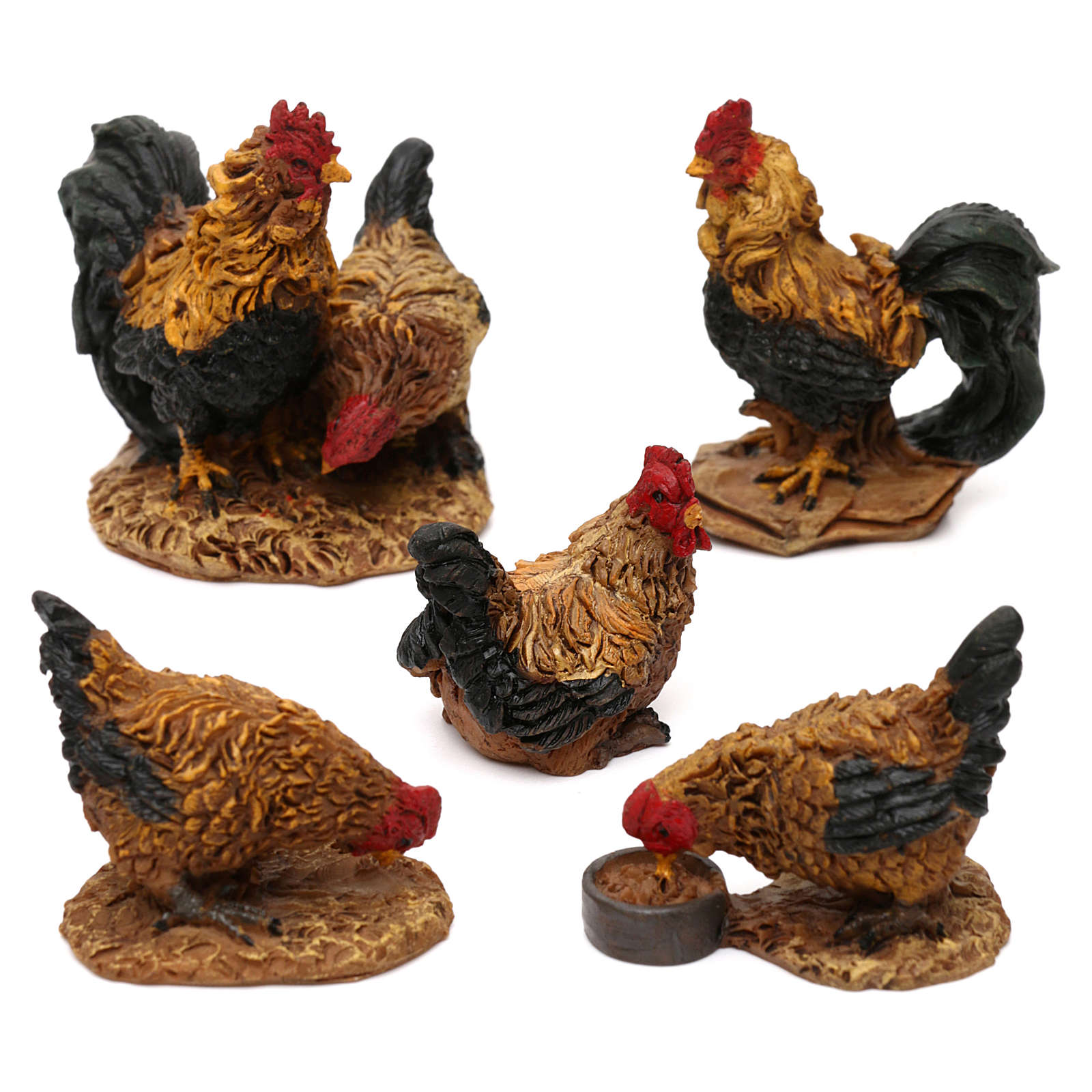 STOCK Chickens for 13-18 cm Nativity scene 5 pcs 3