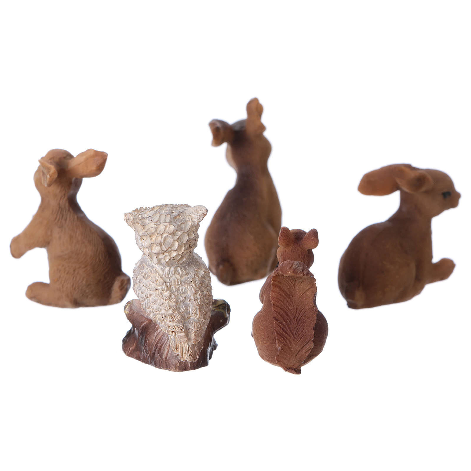 Animali della foresta 5 pezzi per presepe di 11-12 cm 3