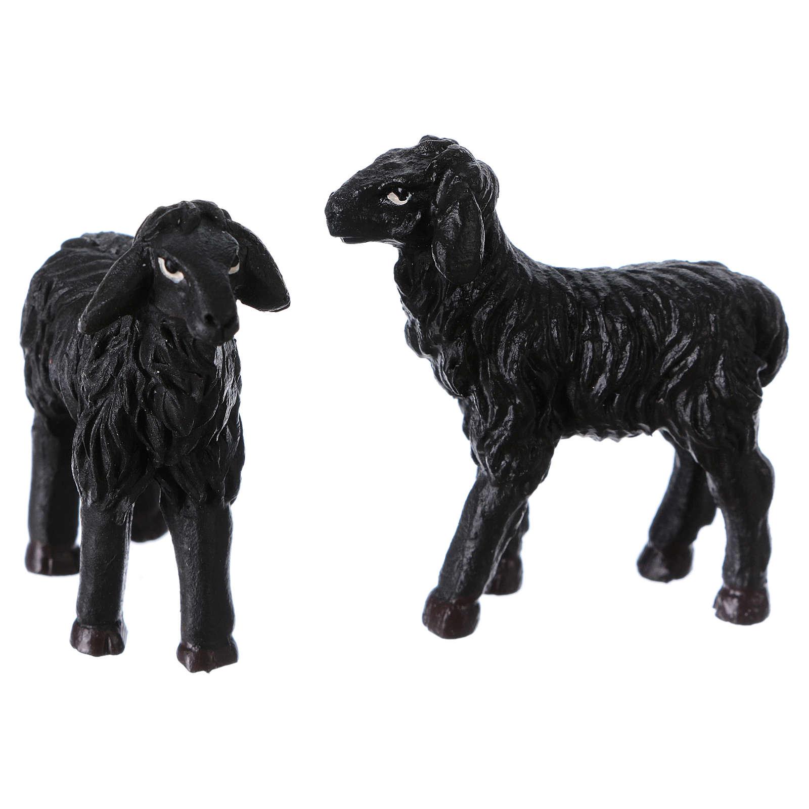 Black sheep 2 pieces for 9cm Nativity Scenes 3