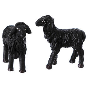 Black sheep 2 pieces for 9cm Nativity Scenes s1