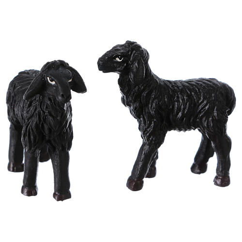 Black sheep 2 pieces for 9cm Nativity Scenes 1
