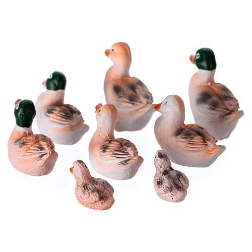 Set 8 Enten für Krippen 10/12cm 2