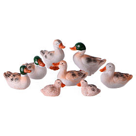 Ducks 8 pcs set, for 10-12 cm nativity s1