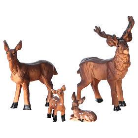 Mangiatoia in stile nordico con famiglia di renne 11x17x13 cm presepe 8 cm s2
