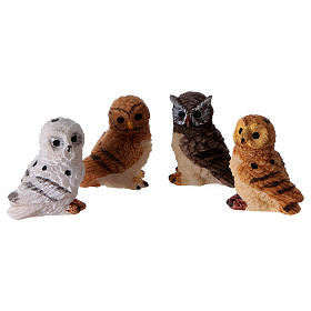 Owls 4 pieces for 11cm Nativity Scenes s1