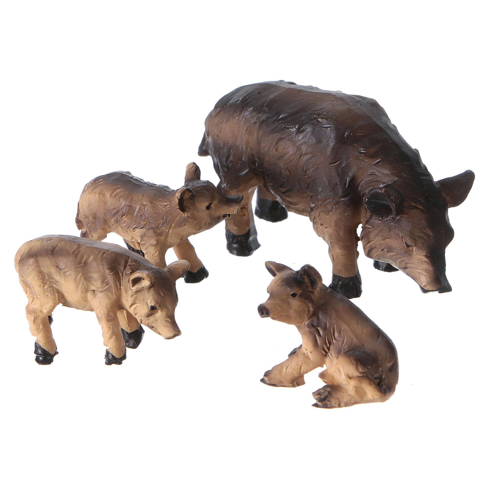 Boars for Nativity Scene 4-piece set 11 cm 3