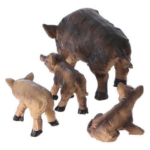 Boars for Nativity Scene 4-piece set 11 cm 2