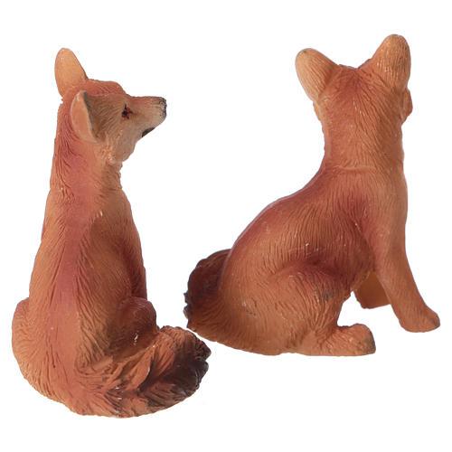 Foxes 2 pcs set, for 11 cm nativity 2