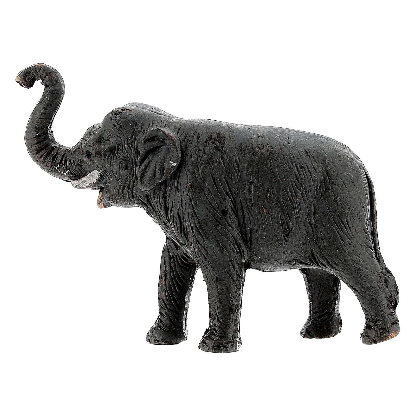Éléphant en terre cuite crèche napolitaine 4 cm 4