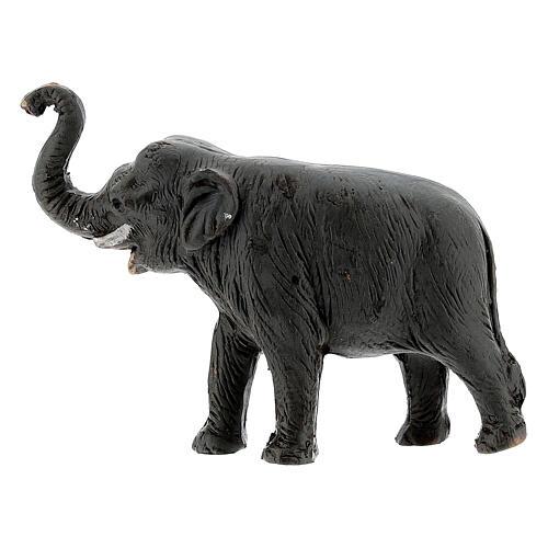 Éléphant en terre cuite crèche napolitaine 4 cm 3