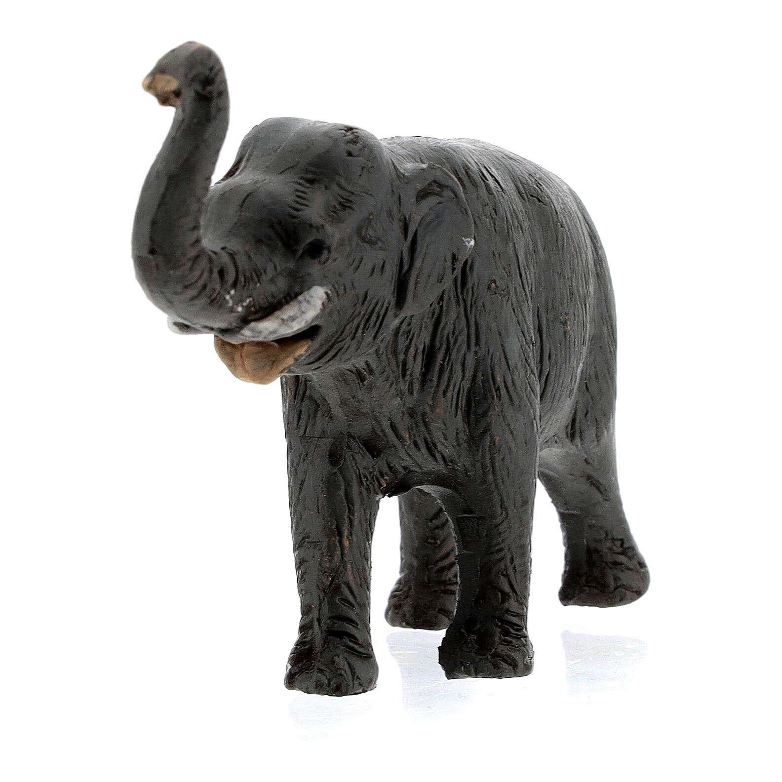 Elefante in terracotta presepe napoletano 4 cm 4
