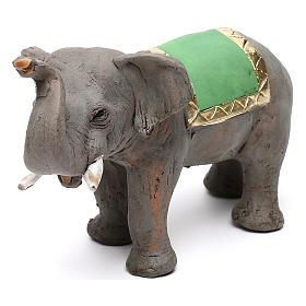 Elefante proboscide alta in terracotta presepe napoletano 6 cm s3