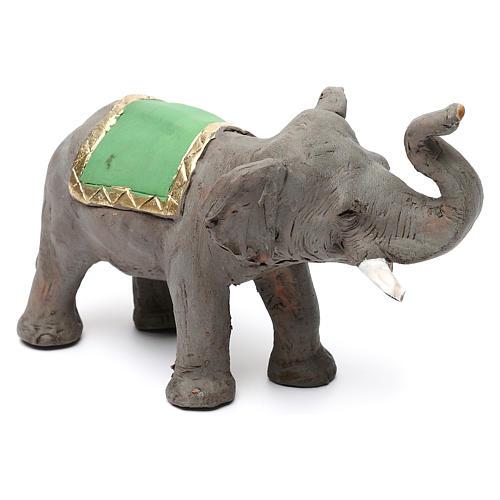 Elefante proboscide alta in terracotta presepe napoletano 6 cm 4
