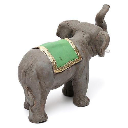 Elefante proboscide alta in terracotta presepe napoletano 6 cm 5