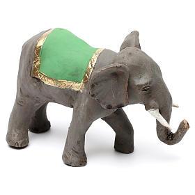 Elefante con sella in terracotta presepe napoletano 8 cm s4