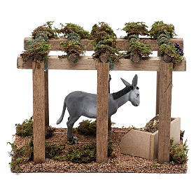 Donkey under the porch with grapes for Nativity scene 10 cm s4