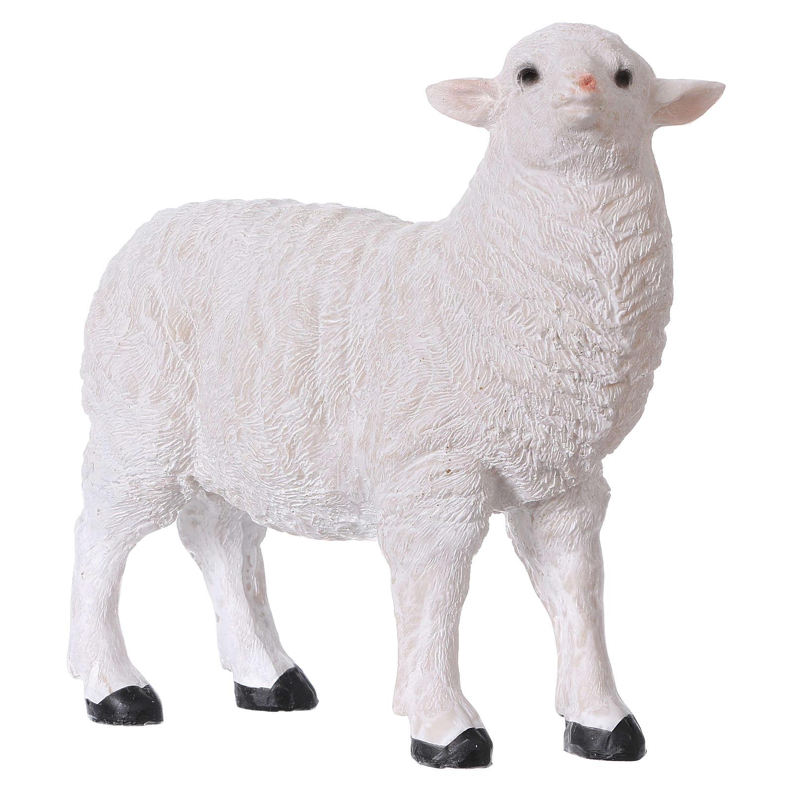 Set 2 moutons résine pour crèche 35x-45 cm 3