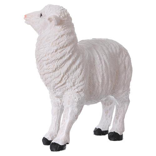 Set 2 moutons résine pour crèche 35x-45 cm 2