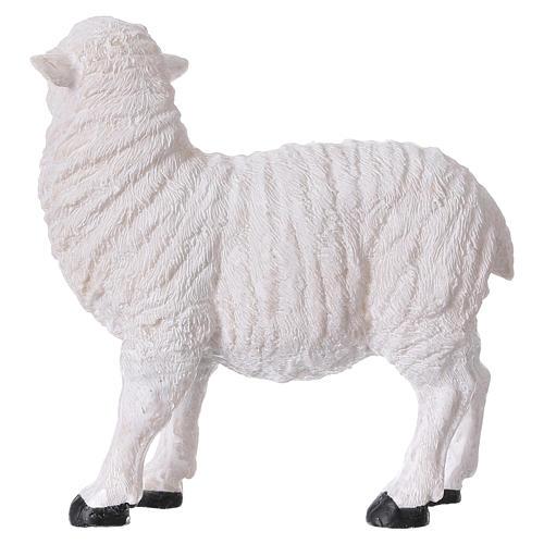 Set 2 moutons résine pour crèche 35x-45 cm 4