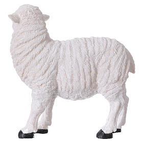 Set 2 sheep in resin for 35-45 cm nativity s4