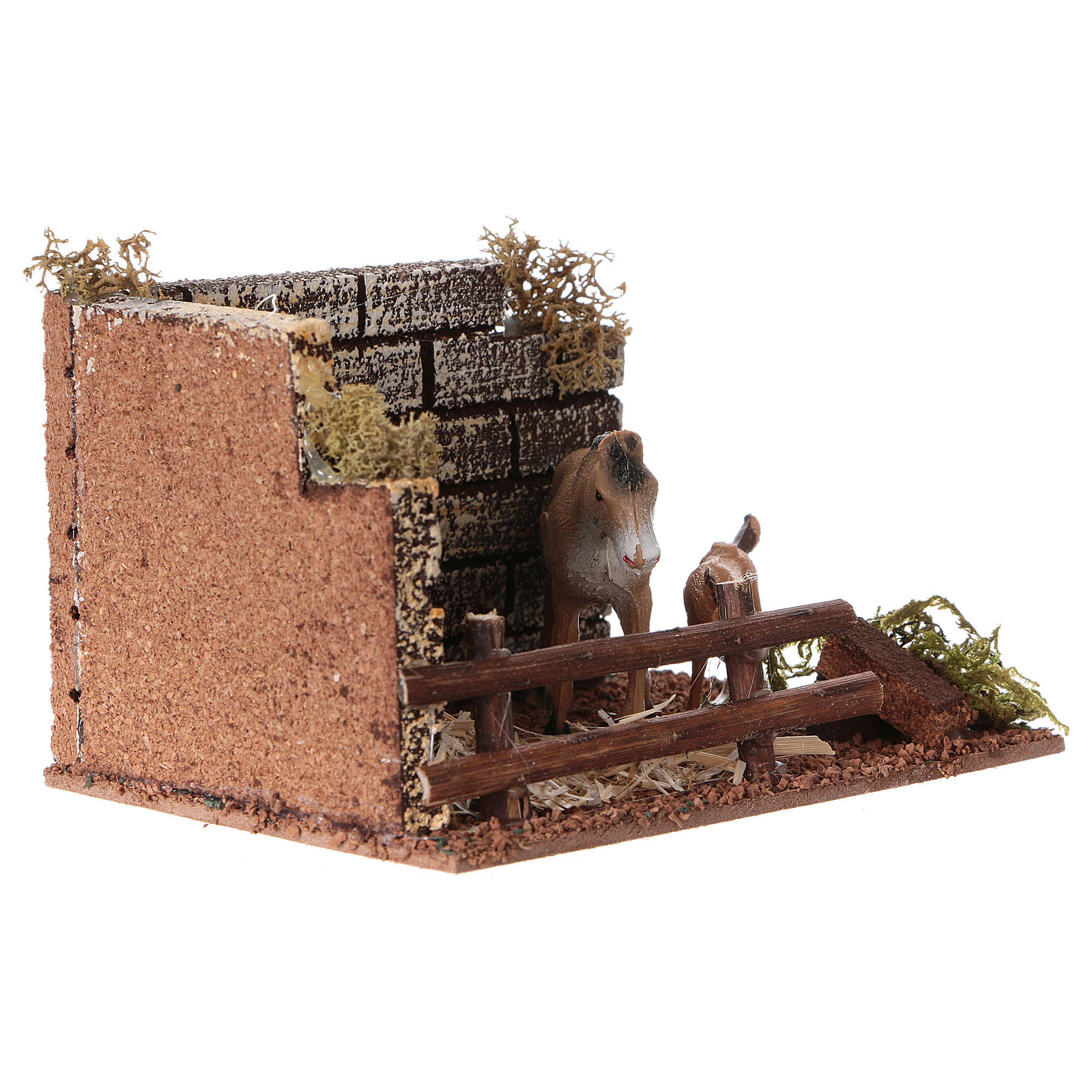 Horse enclosure with fence for Nativity scene of 12 cm 3