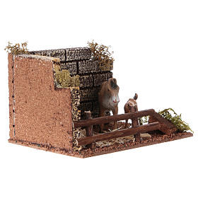 Horse enclosure with fence for Nativity scene of 12 cm s3