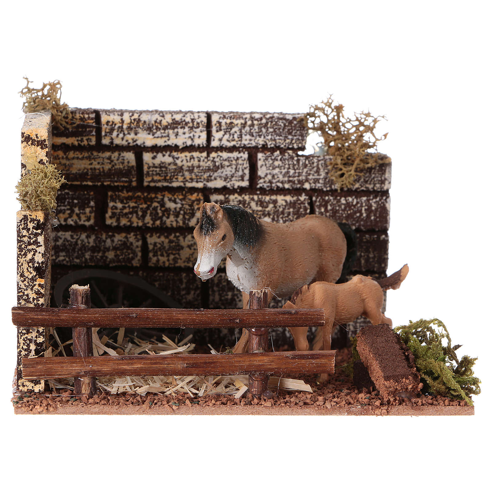 Horse stall figurine, for 12 cm nativity 3