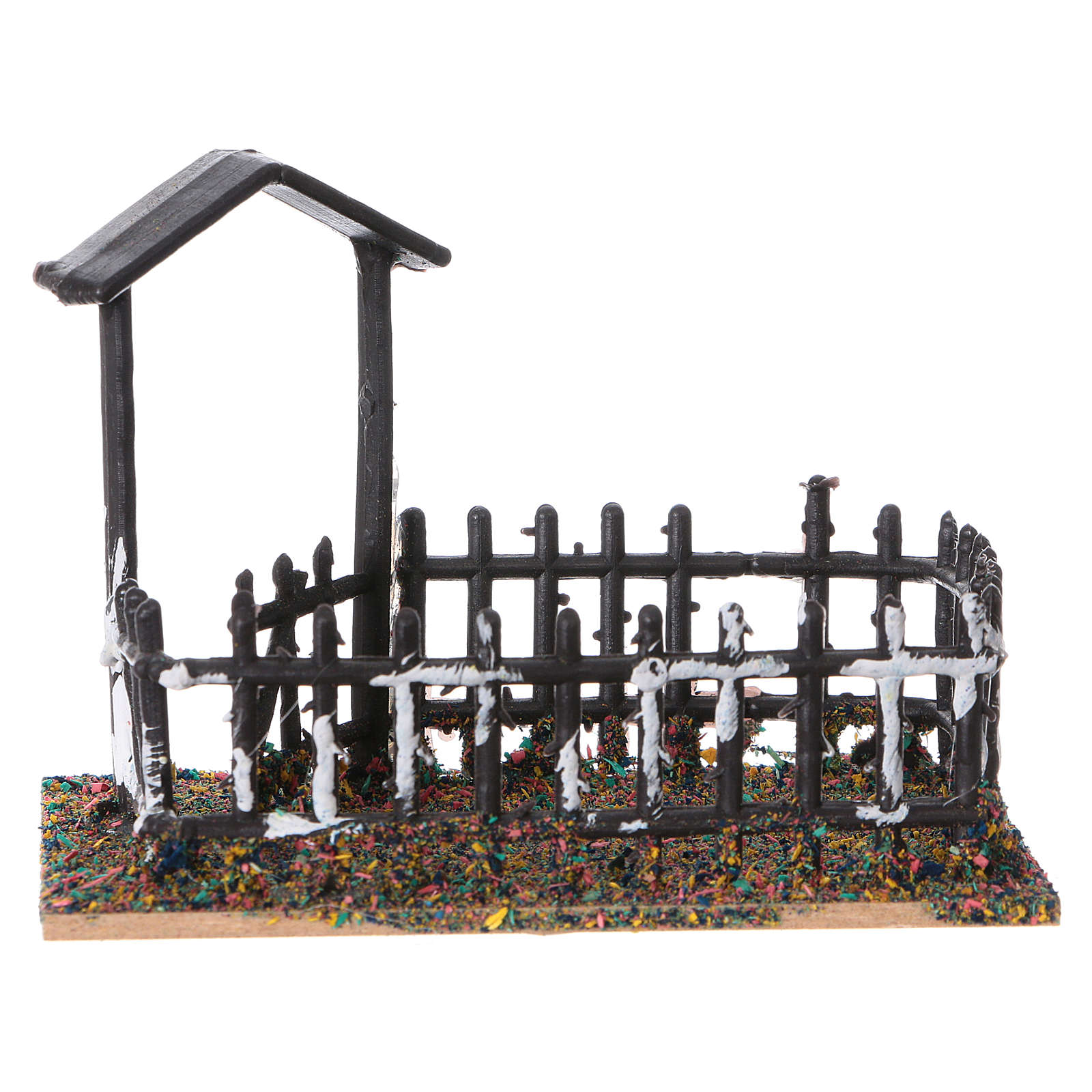 Animal fencing in plastic and cork 8x10x7 cm 3