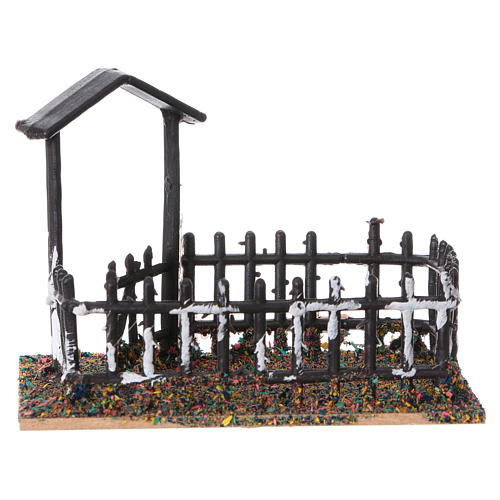 Animal fencing in plastic and cork 8x10x7 cm 1