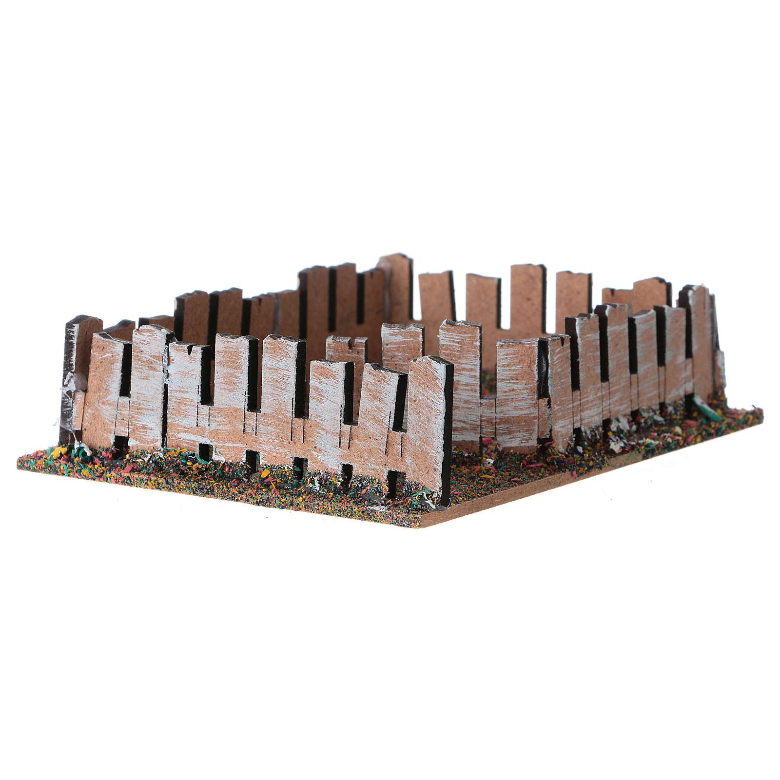 Recinto para animales de madera y corcho 4x13x10 cm 3