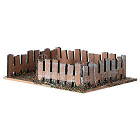 Recinto para animales de madera y corcho 4x13x10 cm s2