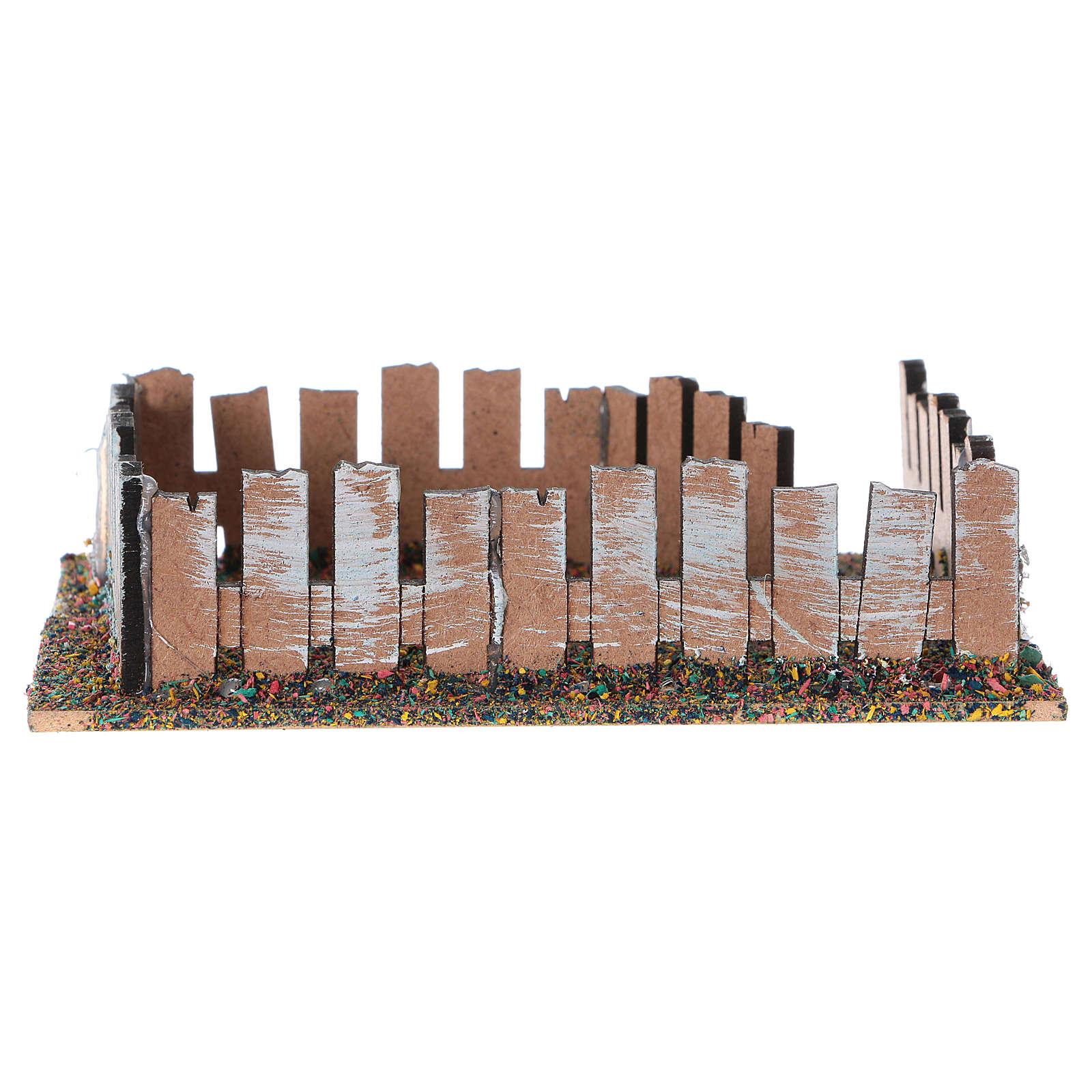 Cerca para animais em madeira e cortiça 4x13x10 cm 3
