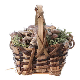 Basket with snails, for DIY nativity real h. 5 cm s1