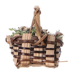 Basket with snails, for DIY nativity real h. 5 cm s3