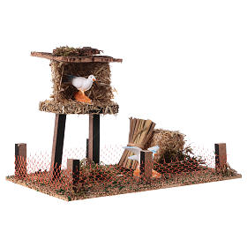 Cork bird house with hay 10x20x10 cm s3