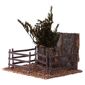 Cork fence for animals 15x15x10 cm Nativity scene s2