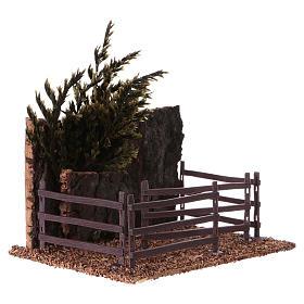 Cork fence for animals 15x15x10 cm Nativity scene s3