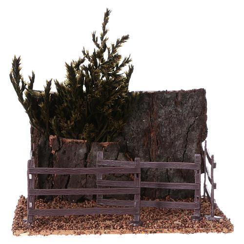 Cork fence for animals 15x15x10 cm Nativity scene 1