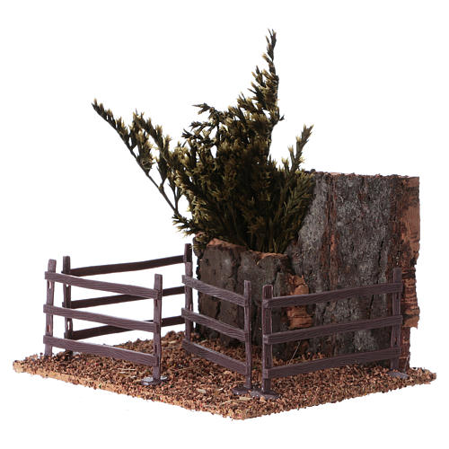 Cork fence for animals 15x15x10 cm Nativity scene 2