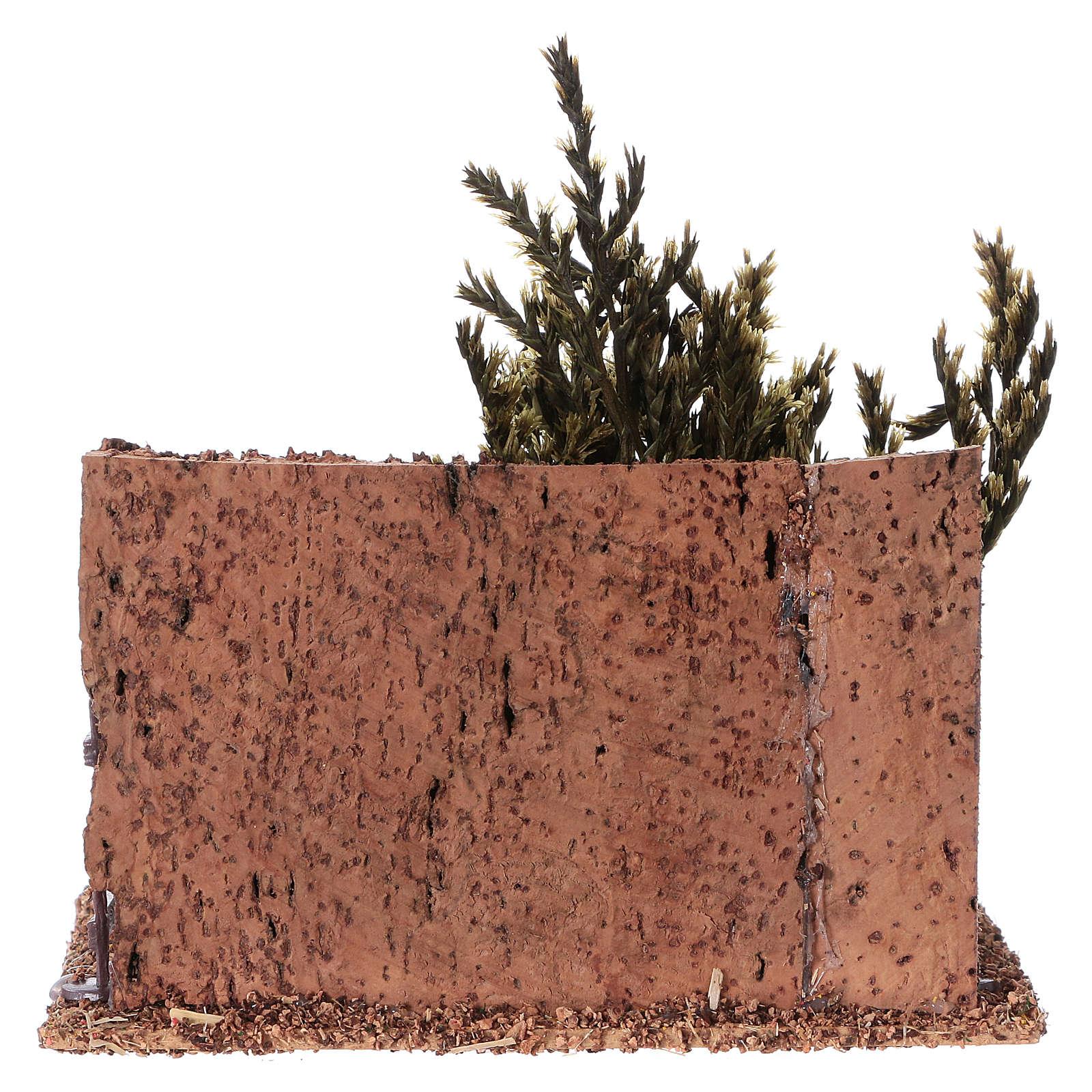 Cork nativity animal fence 15x15x10 cm 3