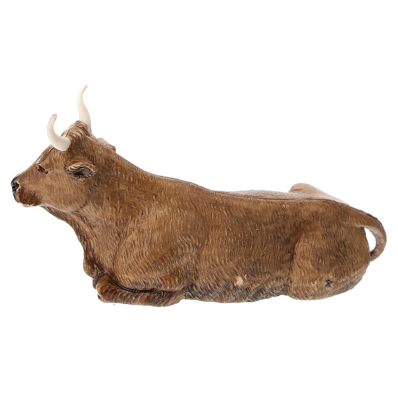 Ox figurine made of plastic for 12 cm Nativity scenes 3