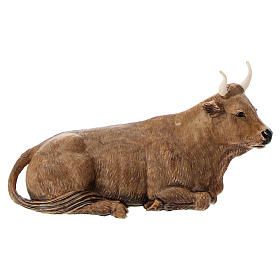Ox figurine made of plastic for 12 cm Nativity scenes s2