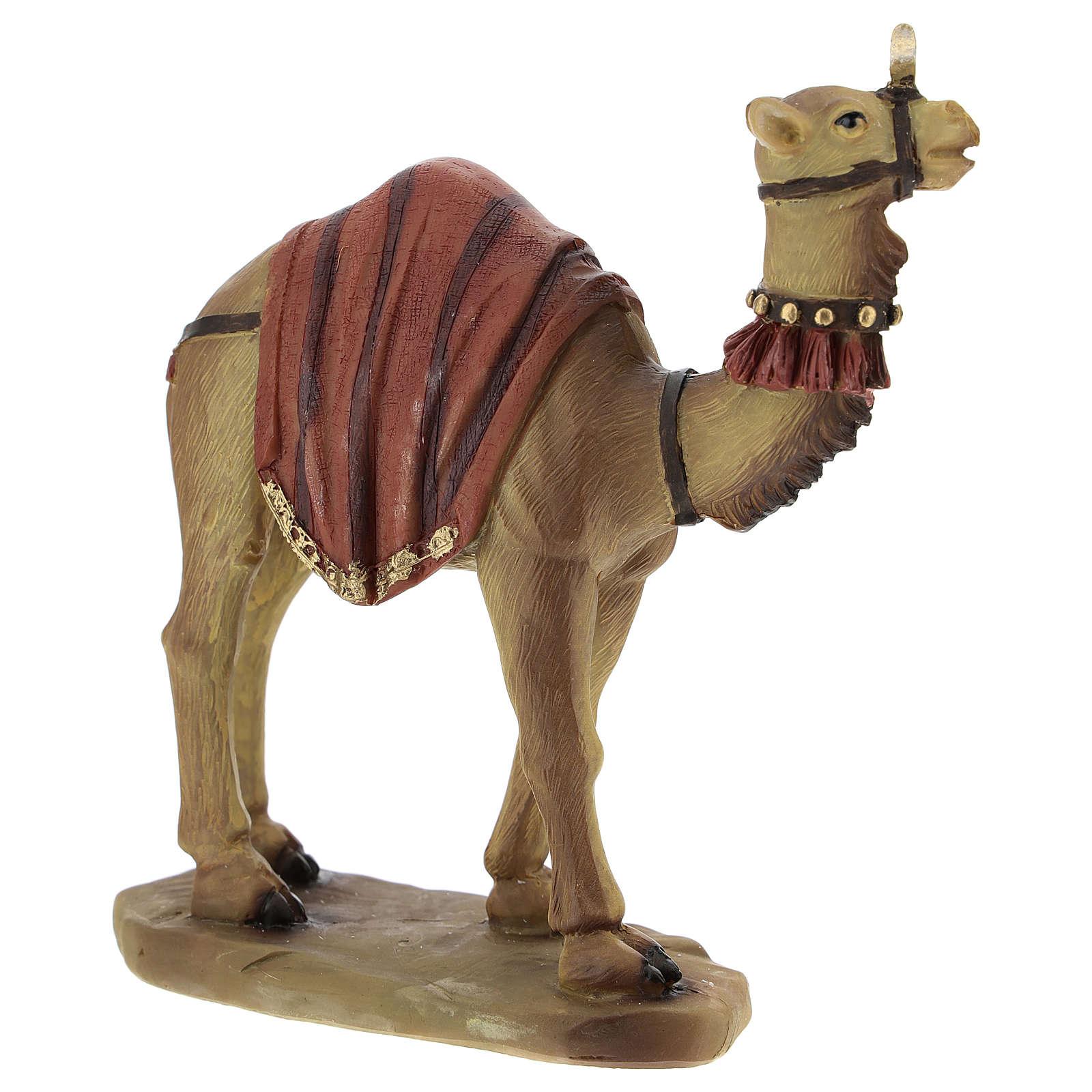 Cammello elefante e cavallo resina per presepe di 11 cm set 3