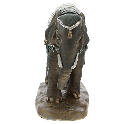 Cammello elefante e cavallo resina per presepe di 11 cm set 4