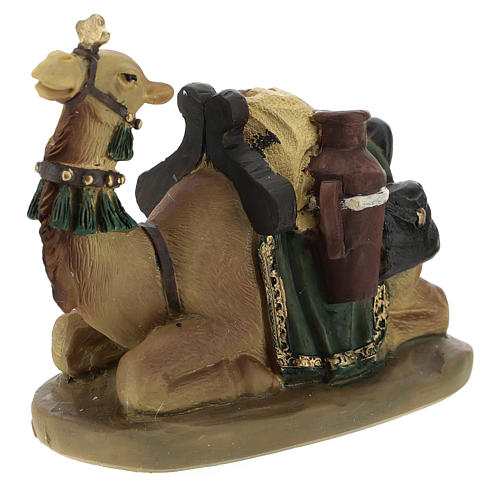 Set of 2 resin camels for Nativity scenes of 11 cm 2