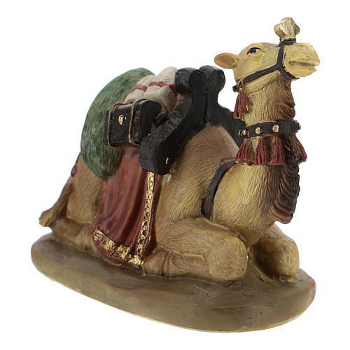 Set of 2 resin camels for Nativity scenes of 11 cm 3